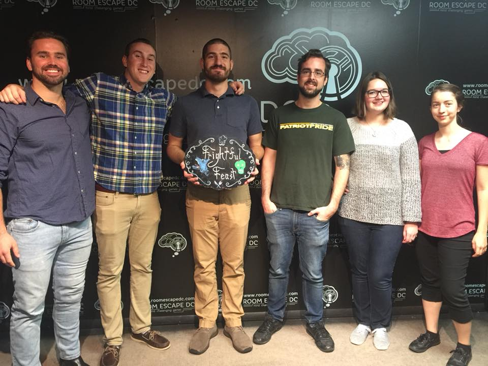 Group of people who finished an escape room