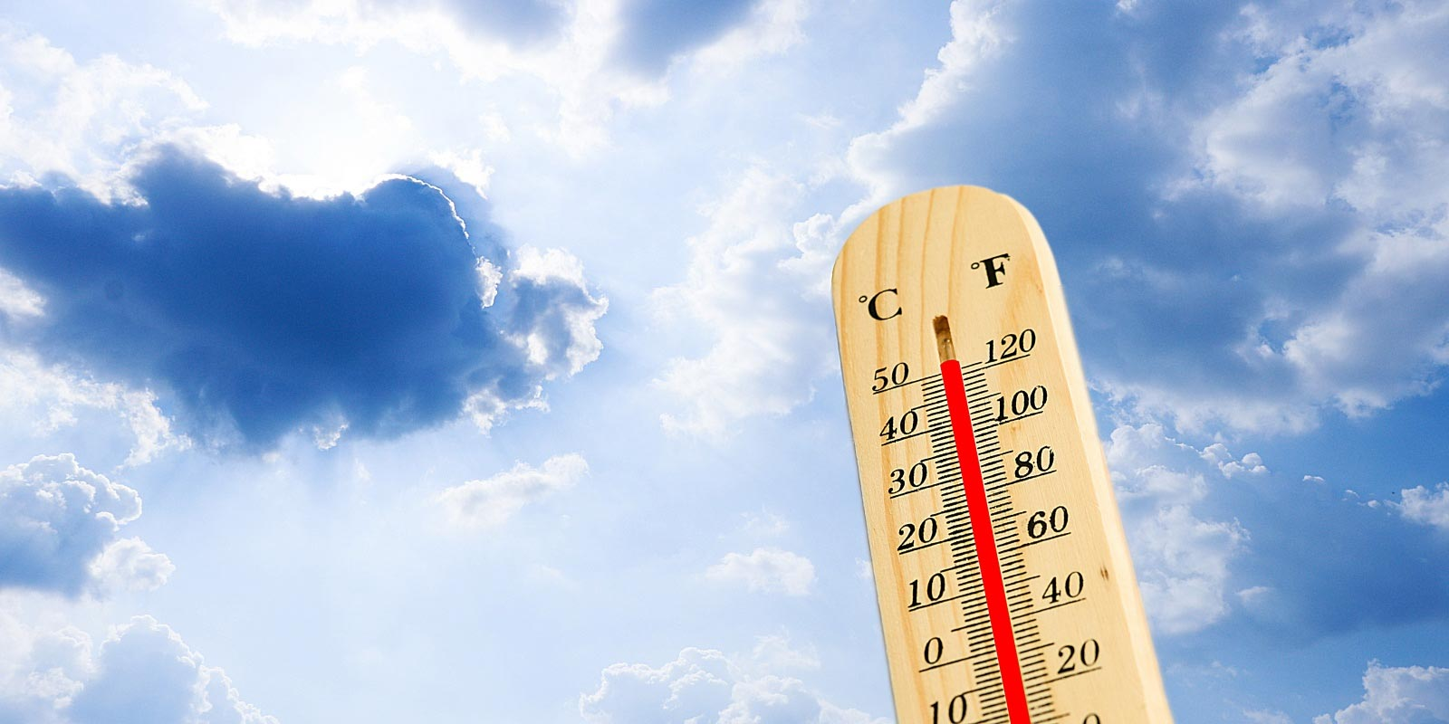 thermometer showing the need for tips on staying cool in the summer heat